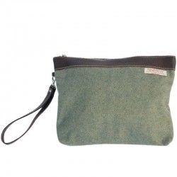 Handtasche Grun Wolltuch
