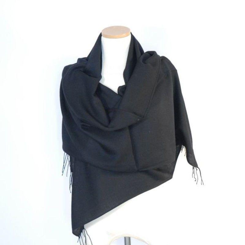 Black Bamboo Shawl