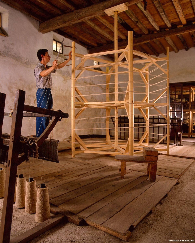 Museo textil de lanas - Grazalema - Urdidor