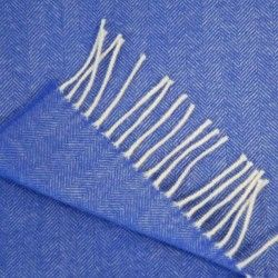 Wollschal Blau Indigo