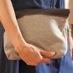 Handtasche Nerz Wolltuch