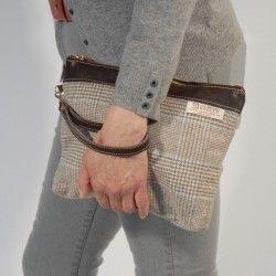 Handtasche Wales Blau Wolltuch
