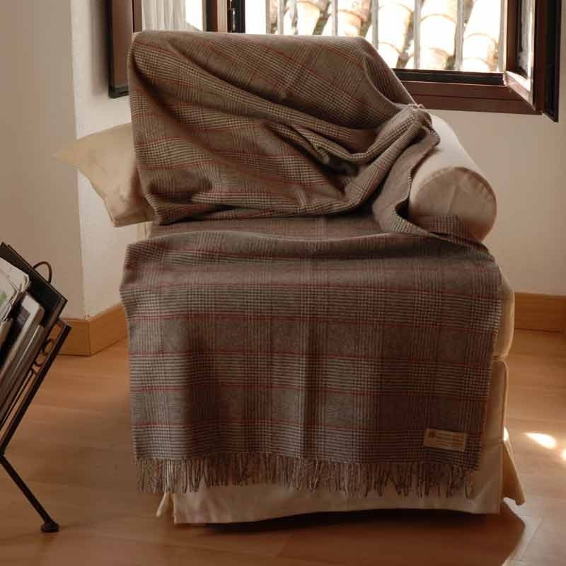 Prince of wales check plaid grazalema - Plaid para sofa ...