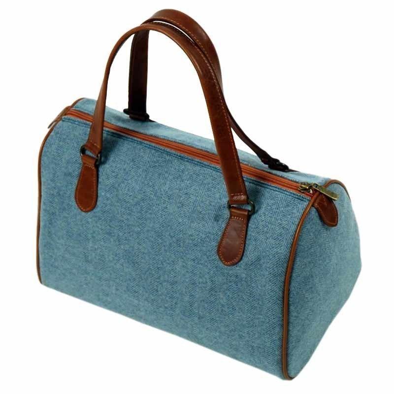 Handtasche Blau Wolltuch