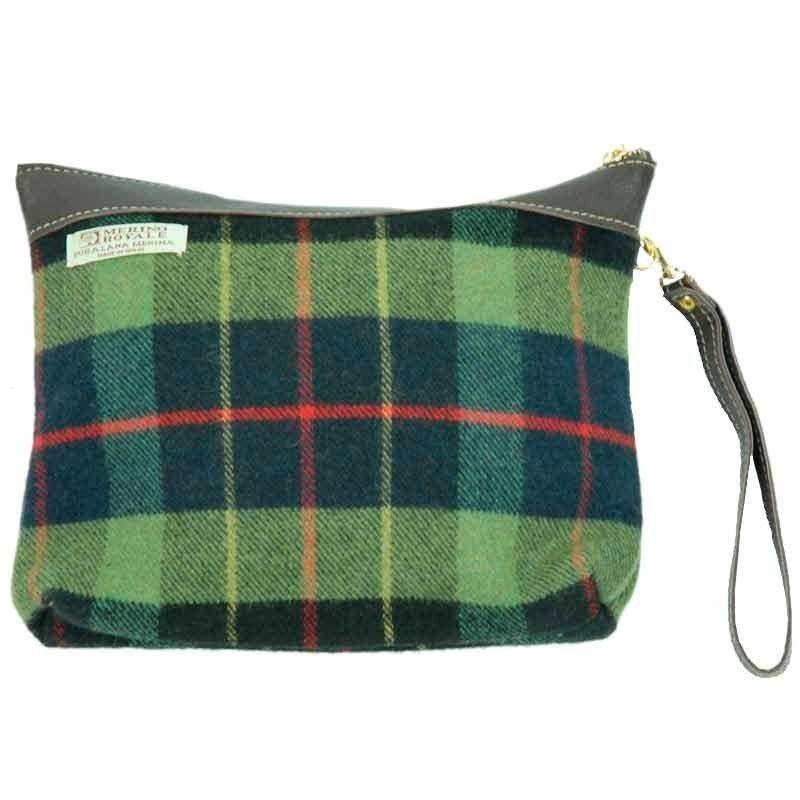 Handtasche Schottenkaro Wolltuch