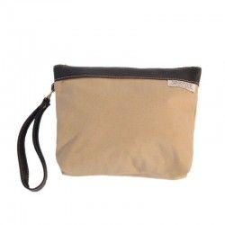 Handtasche Kamel Wolltuch