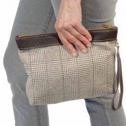 Handtasche Kariert Wales Grun