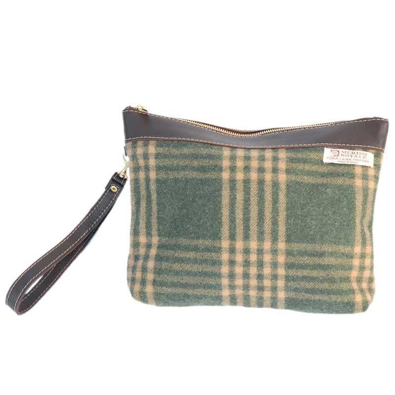 Handtasche Grun Karierten Woll
