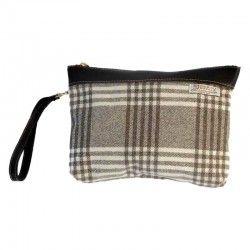 Check Wool Handbag