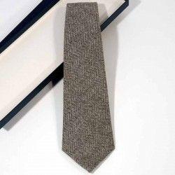 Krawatte Wolle Grau
