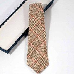 Krawatte Wolle Wales Rot