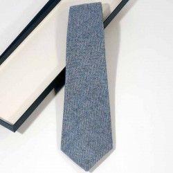 Krawatte Wolle Blau