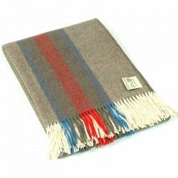Wool Stripes Mink Throw