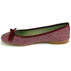 Burgundy Ballerina Pumps