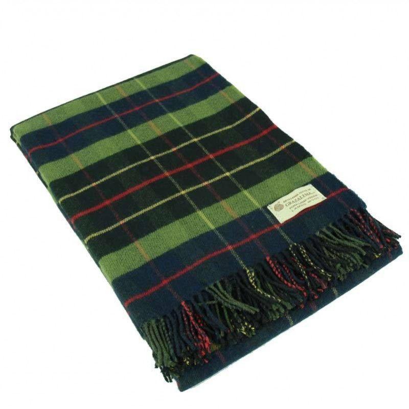 Manta cuadros escoceses plaid 100 lana merino grazalema - Lana gorda para mantas ...