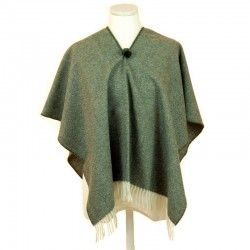 Green Poncho for Children