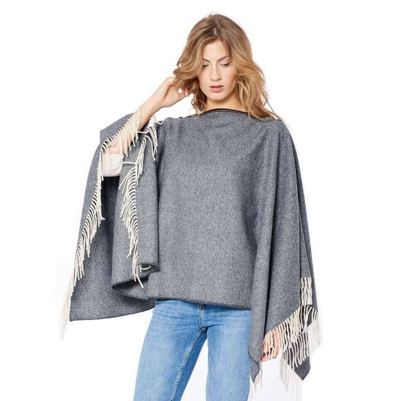 Dark Grey Poncho