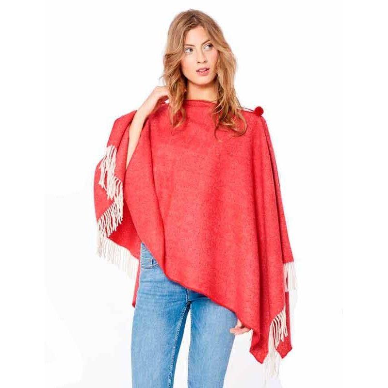 Poncho Rojo Romántico