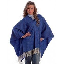 Poncho Azul Añil