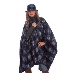 Poncho Ruano Plaid Blue