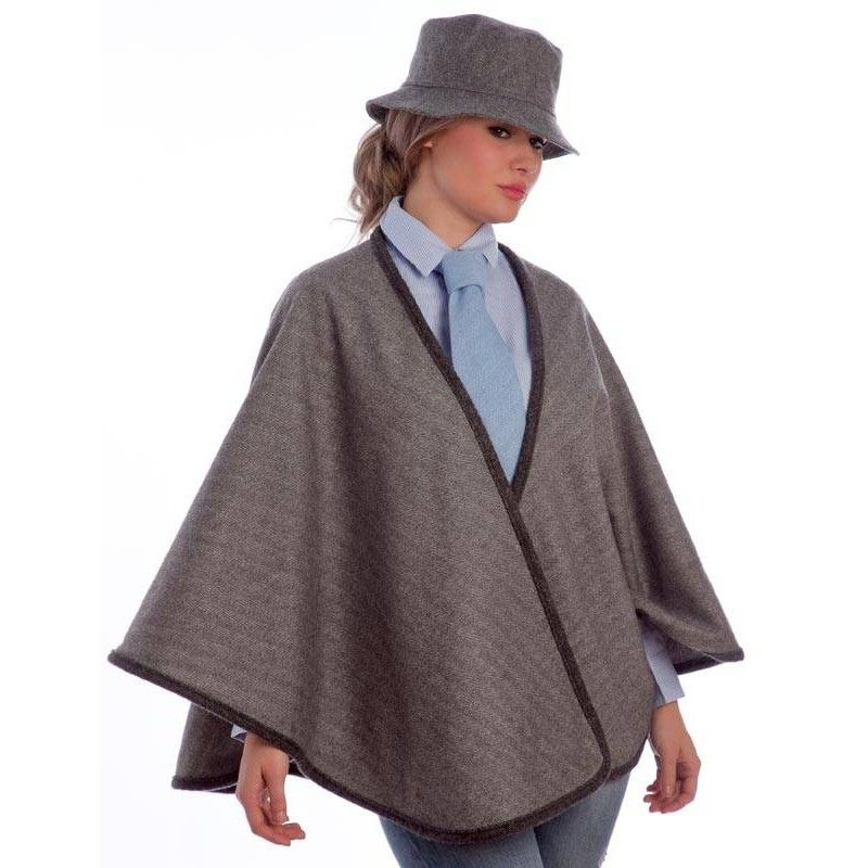 Grey Short Cape