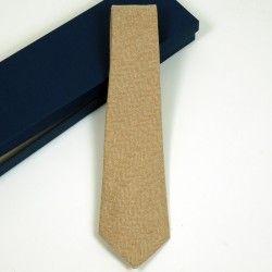 Wool Check Beige Tie