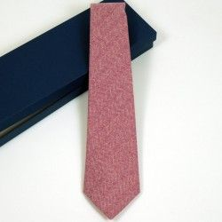 Wool Burgundy Check Tie