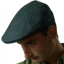 Navy Blue Flat Cap