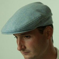 Blue Wool Flat Cap