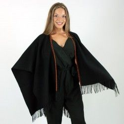 Black Cape Poncho