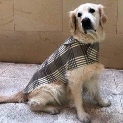 Check Wool Coat for Dog