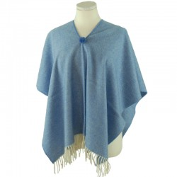 Blue Poncho for Girl