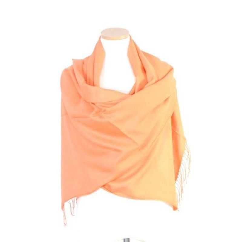 Orange Bamboo Shawl