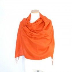 Orange Dark Bamboo Shawl