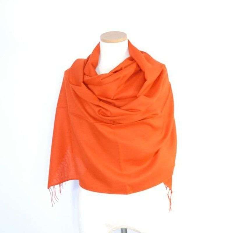 Orange Dark Bamboo Shawl