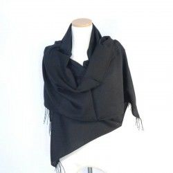 Black Bamboo Shawl