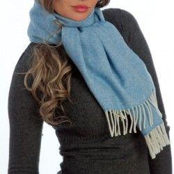France Blauen Schal