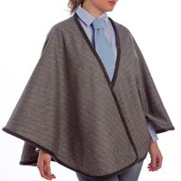 short grey cape