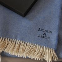 perrsonalized blanket with name